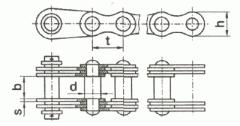 Верига зареждане пластинчати GOST 191-82