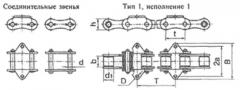 Цепь роликовая длиннозвеннпя для транспортеров и элеваторов ГОСТ 4267-78