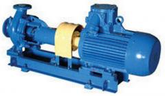 Console to type centrifugal pump