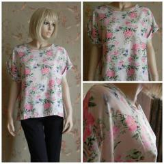 T-shirt N3845,  female with roses