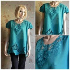 T-shirt women's N4039,  turquoise with a...