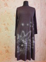 Платье трикотажное коричневого цвета, арт: 5019