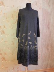 Платье трикотажное черное, арт: 5033