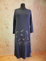 Платье трикотажное синего цвета, арт: 5036