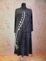 Платье трикотажное черное, арт. 5045