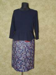 Платье трикотажное с костюмной ткани,  арт....