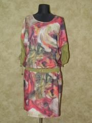 Платье с цветами ,  арт: 5770