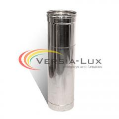 Extension tube with stainless steel shell (1.0 mm) L = 0.5-1.0 m Ø 125