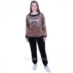 Костюм женский велюровый леопард
