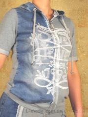 Спортивный костюм женский джинсовый,  арт....