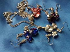A set of costume jewelry for weddings,
