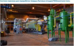 Пиролизная установка для утилизации отработанных шин и ТБО