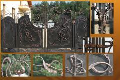 Ворота кованые 1