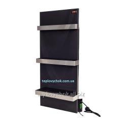 Керамическая электропанель  с терморегулятором DIMOL Standart 07 с сушкой полотенец графитовая