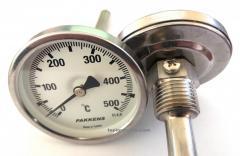 """Термометр  0-500°,  Ø63мм,  с резьбой 1/2""""..."""