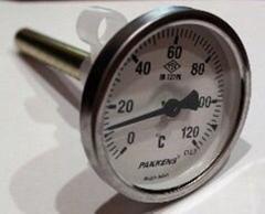 """Термометр Ø63мм, 0-120 ° С, з різьбою 1/2 """"біметалічний, осьовий"""