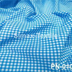 Ткань Рубашечная, рубашка, ткань на рубашку(Голубой+Белый), Код: РN-010 клетка 3 мм