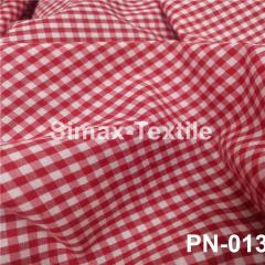 Ткань Рубашечная, рубашка, ткань на рубашку(Красный+Белый), Код: РN-013 клетк 3 мм