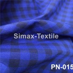 Ткань Рубашечная, рубашка, ткань на рубашку(Синий+Черный), Код: РN-015 клетк 9 мм