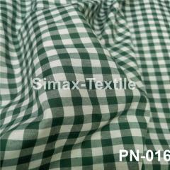Ткань Рубашечная, рубашка, ткань на рубашку(Темно-Зеленый+Белый), Код: РN-016 клетк 7 мм