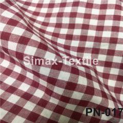 Ткань Рубашечная, рубашка, ткань на рубашку(Темно-Красный+Белый), Код: РN-017 клетк 7 мм