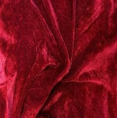 Ткань велюр стрейч, бархат, Код: BY-15 Бордо