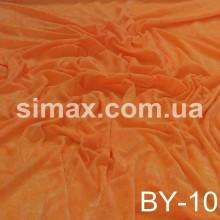 Ткань велюр стрейч, бархат, Код: Оранжевый BY-10