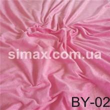 Ткань велюр стрейч, бархат, Код: Розовый BY-02