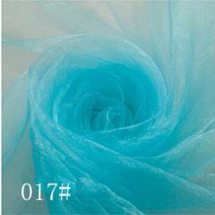 Ткань фатин жесткий, Код: 017 Голубой