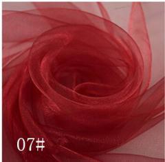 Ткань фатин жесткий, Код: 07 Бордо