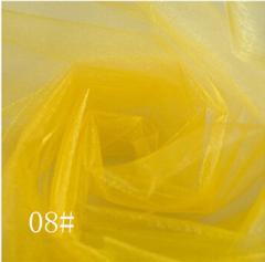 Ткань фатин жесткий, Код: 08 Желтый
