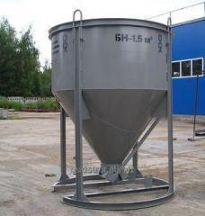 Бункер для бетона. Бункер бетонної маси Рюмка  0.75