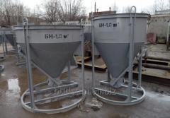 """Бункер для бетона. Бадья для  бетонной массы  """"Рюмка """" 1.25 м3 конусная"""
