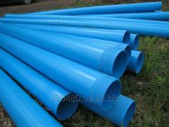 Casing pipes of PVC with a carving