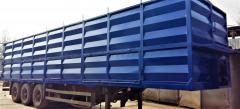 New steel bodies on the semi-trailer