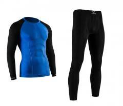 Спортивное мужское термобелье Tervel COMFORTLINE черно-синий