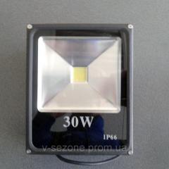 Прожектор светодиодный плоский slim SMD LED 30w 6500K IP65