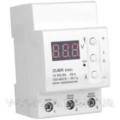 Реле контроля напряжения с тепловой защитой D63t Zubr