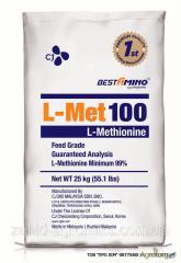 Метионин кормовий 100% (Кормовой метионин для животных) аминокислота, фасовка 25 кг