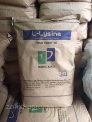 Лизин моногидрохлорид (лизин моногидрохлорид, L-лизин) аминокислота порошок, фасовка 25 кг