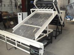 Sorting machine for the production of sticks for
