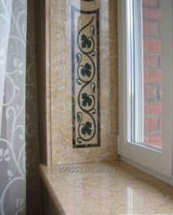 Window sills and otliva from handwork granite