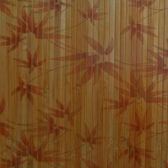 Шпалери з бамбука Кофейний лак Листя бамбука, 8мм