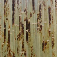 Бамбукові шпалери Черепаха шліфована, без лаку оливка, 17мм