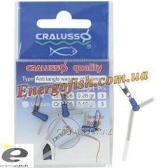 Карабин поплавочный угловой Cralusso Antitangle Waggler attachment S(2006) 3шт