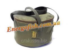 Ведро для прикормки Kibas с крышкой 24x14см SMART Fishing