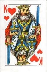 Playing cards King of 54 pieces satin