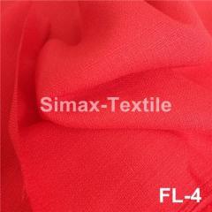 Ткань лён (мешковина льняная), Код: FL-4 Красный