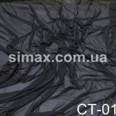 Сеточная стрейчевая ткань., Код: СТ-01 Черный