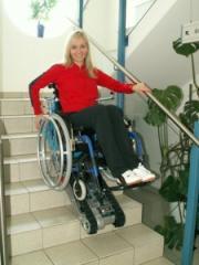 The independent ladder elevator for disabled